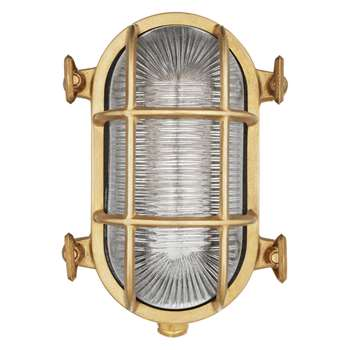 Nordlux Bulkhead Outdoor Wall Light, Brass (12.5 x 19cm)