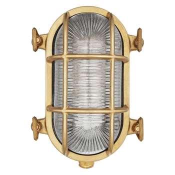 Nordlux Bulkhead Outdoor Wall Light, Brass (12.5 x 19cm)