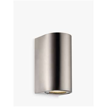 Nordlux Design For The People Canto Maxi Outdoor Wall Light, Stainless Steel (H17 x W8.7 x D10cm)
