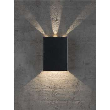 Nordlux Design For The People Fold LED Outdoor Wall Light, Black (H21 x W15.2 x D5.2cm)