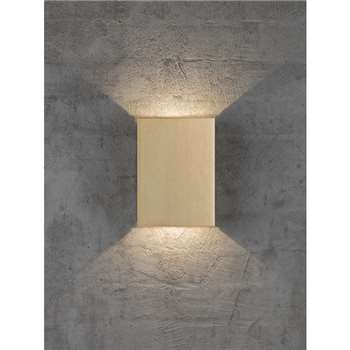 Nordlux Design For The People Fold LED Outdoor Wall Light, Brass (H21 x W15.2 x D5.2cm)