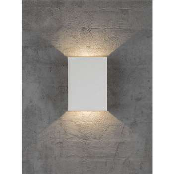 Nordlux Design For The People Fold LED Outdoor Wall Light, White (H21 x W15.2 x D5.2cm)