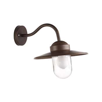 Nordlux Luxembourg Outdoor Wall Light, Weathered Finish (H25 x W26 x D42cm)