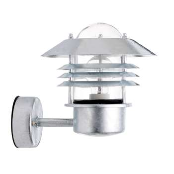 Nordlux Vejers Outdoor Up Wall Light, Galvanised Steel (23 x 23cm)