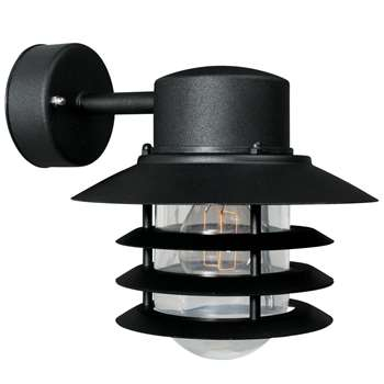 Nordlux Vejers Outdoor Wall Lantern, Black (23 x 22cm)