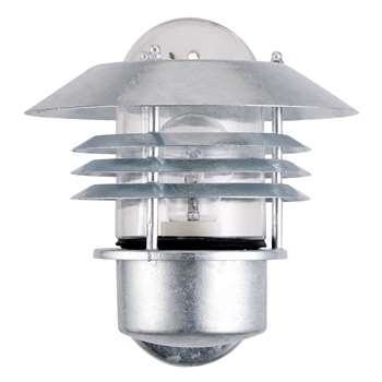 Nordlux Vejers Outdoor Wall Up Light, Galvanised Steel (23 x 23cm)