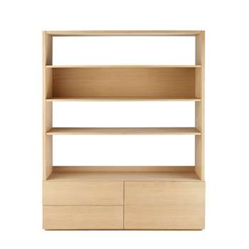 NORMAN 2-Drawer Bookcase TV Unit Norman (H190 x W150 x D45cm)