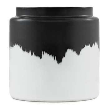 Normann Copenhagen - Agnes Vase - Black & White - Short (16.6 x 18cm)