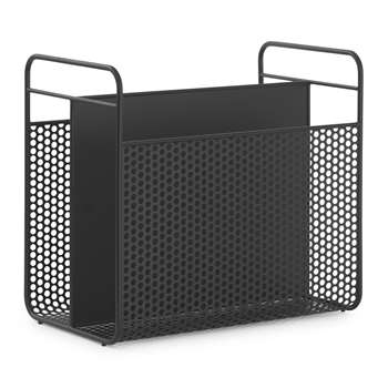 Normann Copenhagen - Analog Magazine Rack - Black (H36.6 x W40.2 x D23.5cm)