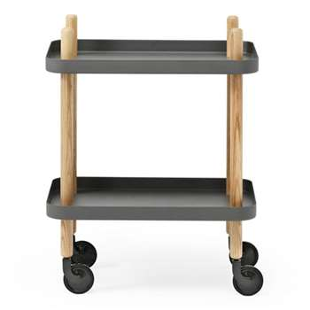 Normann Copenhagen Block Table - Dark Grey (64 x 50cm)