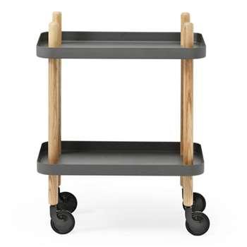 Normann Copenhagen Block Table - Dark Grey (H64 x W50 x D35cm)