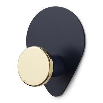 Normann Copenhagen - Peacock Wall Hook - Large - Midnight Blue (H12 x W9 x D4.5cm)