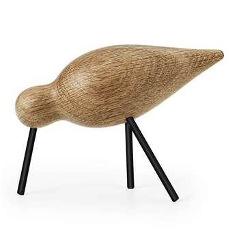 Normann Copenhagen - Shorebird Ornament - Black/Oak - Medium (11 x 15cm)