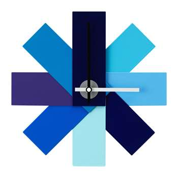 Normann Copenhagen - Watch Me Wall Clock - Blue (H28.5 x W28.5cm)