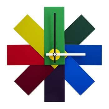 Normann Copenhagen - Watch Me Wall Clock - Multicoloured (H28.5 x W28.5cm)