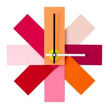 Normann Copenhagen - Watch Me Wall Clock - Pink (H28.5 x W28.5cm)