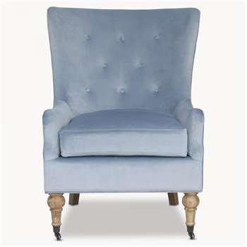 Norton Light Blue Arm Chair (H103.5 x W77 x D86cm)