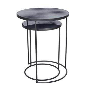 Notre Monde - Nesting Side Table Set - Charcoal (69 x 56cm)