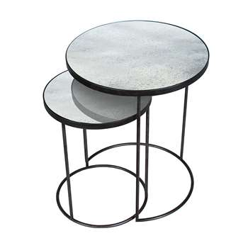 Notre Monde - Nesting Side Table Set - Clear (69 x 56cm)