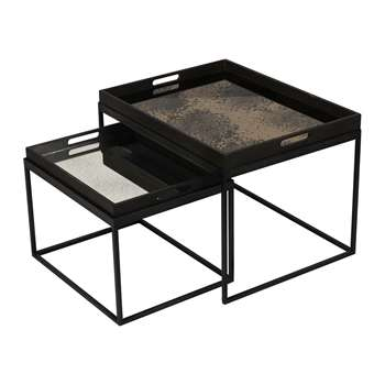 Notre Monde - Rectangular Tray Table Set (38 x 61cm)