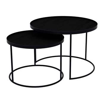 Notre Monde - Round Nesting Tray Table Set (H38 x W62 x D62cm)