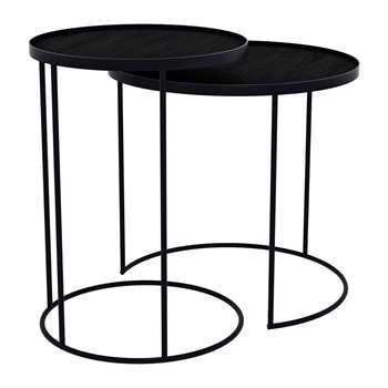 Notre Monde - Round Tray Table - Set of 2 (57 x 62cm)