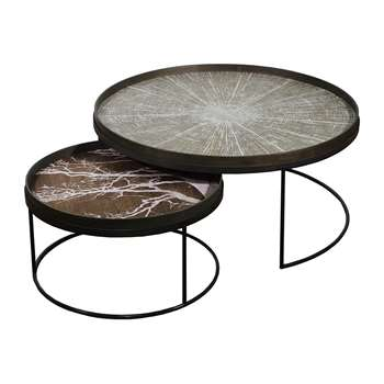 Notre Monde - Round Tray Table Set of 2 - Extra Large - Low (H38 x W93 x D93cm)