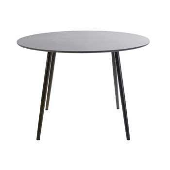 NOUBA Round Anthracite Grey Concrete 5-Seater Garden Table (H75 x W110 x D110cm)