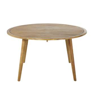 NOUMEA Round Solid Acacia 6-Seater Garden Table (H76 x W140 x D140cm)