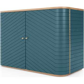 Novak Sideboard, Teal (H72 x W100 x D47cm)