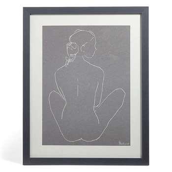 Nude Legs Crossed Wall Art (66 x 52cm)
