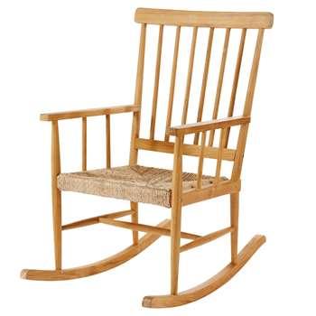 NUTSHELL Teak Rocking Chair (H107 x W66 x D98cm)