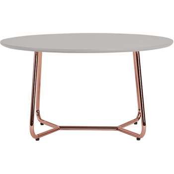Nyla Coffee Table, Grey and Copper (H42 x W80 x D80cm)