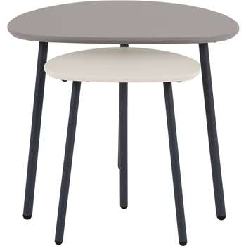 Nyla Nesting Tables, Tonal Grey (45 x 55cm)
