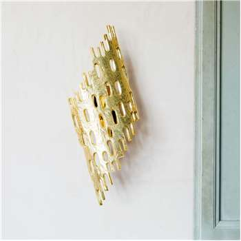 Nyssa Gold Wall Light (H48 x W11.5 x D18cm)