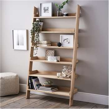 Oak Large Ladder Shelf (180 x 96cm)