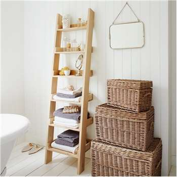 Oak Shelf Ladder (H180 x W54 x D36cm)