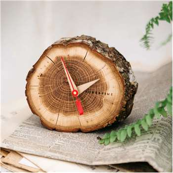Oak Slice Table Clock (Depth 6cm)