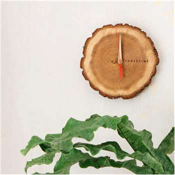 Oak Slice Wall Clock (Diameter 20cm)