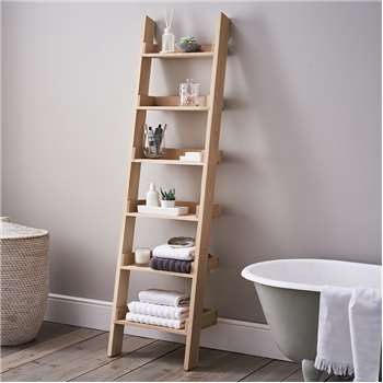 Oak Small Ladder Shelf (190 x 48cm)