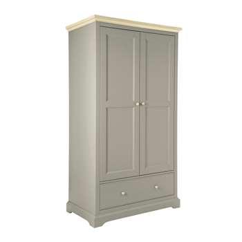 Oakham Pale French Grey 2 Door 1 Drawer Wardrobe (200 x 110cm)