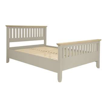 Oakham Pale French Grey Bed Frame Double (110 x 149cm)