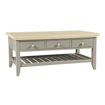 Oakham Pale French Grey Coffee Table (Width 110cm)