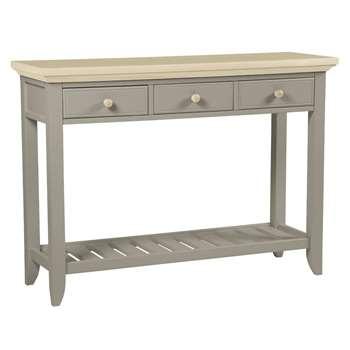 Oakham Pale French Grey Console Table (H80 x W110 x D35cm)