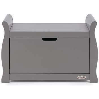 Obaby Stamford Sleigh Toy Box - Taupe Grey (H50 x W78 x D40cm)
