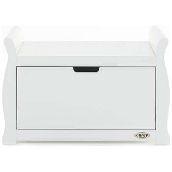 Obaby Stamford Sleigh Toy Box - White (H50 x W78 x D40cm)