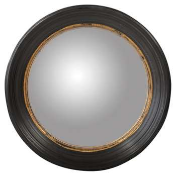 Oban Mirror, Large - Black (Diameter 64cm)