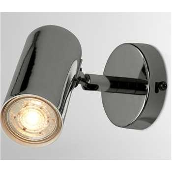 Obie Wall Lamp, Black Nickel (H13.4 x W8 x D12.6cm)