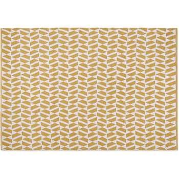 Oblique Woven Indoor/Outdoor Rug. Yellow/Grey (H160 x W230cm)