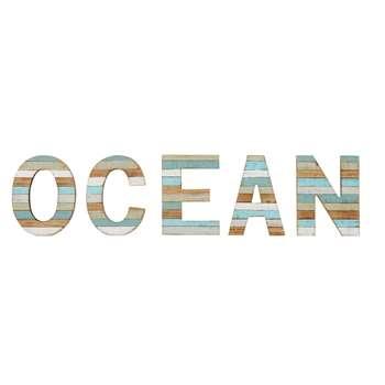 OCEAN Blue Fir Word Decoration (Width 93cm)